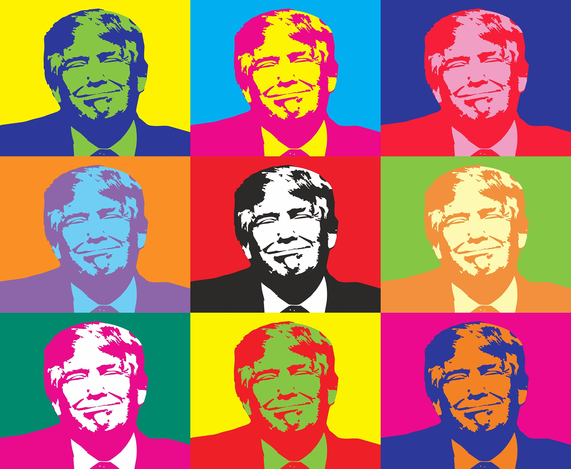 Доналд Тръмп в стил Уорхол