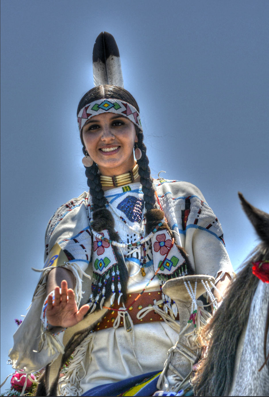 Индианка в традиционна носия
