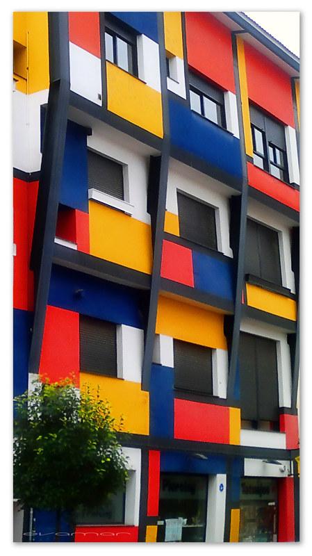 Сграда, вдъхновена от Мондриан