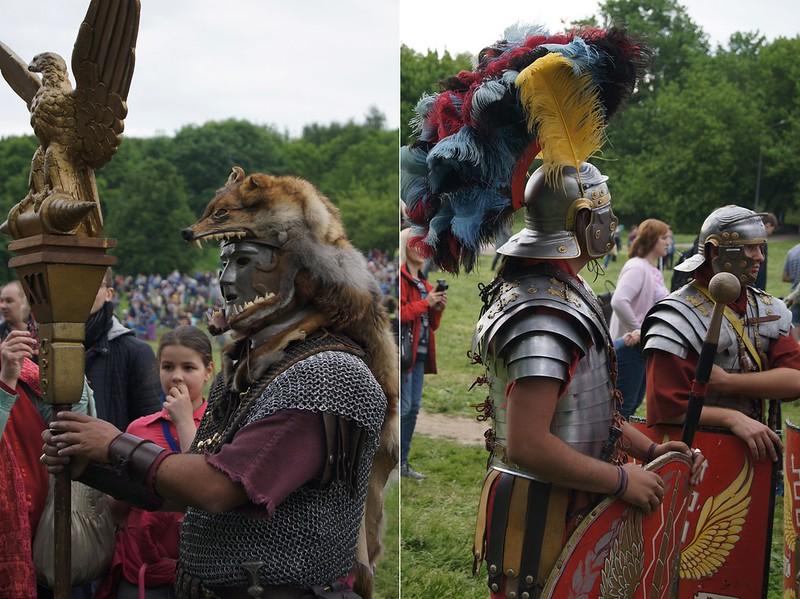 Пресъздаване на вида на гладиаторите от древността