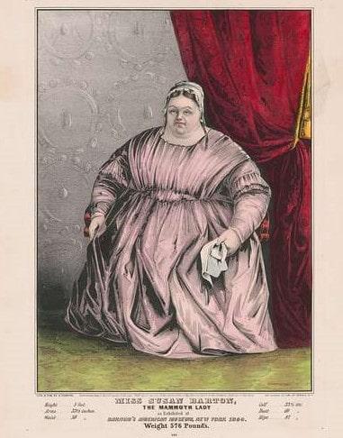 Дебела жена от цирка на Пи Ти Барнъм